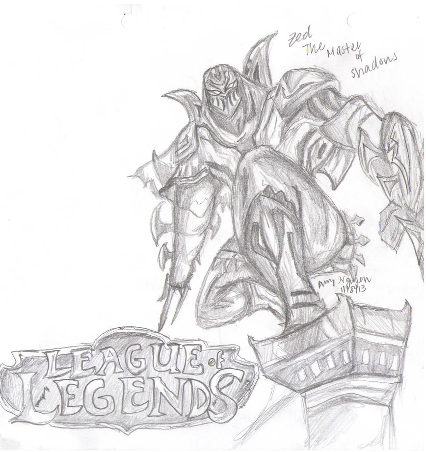League Of Legends Zed Master Of Shadows By