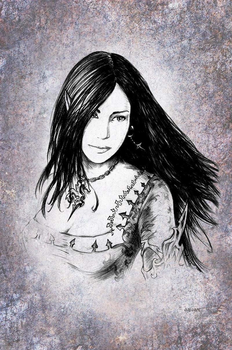 Beautiful elf by Agregor