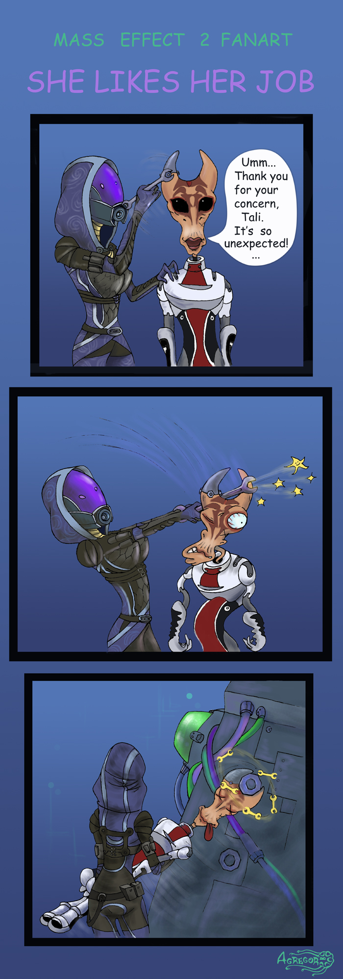 Mass Effect, She likes her job by Agregor