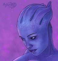 Purple Liara by Agregor