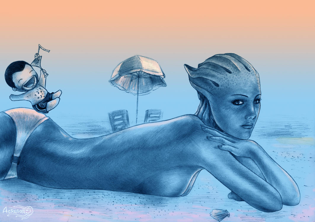 Mass Effect 3, On the beach by Agregor