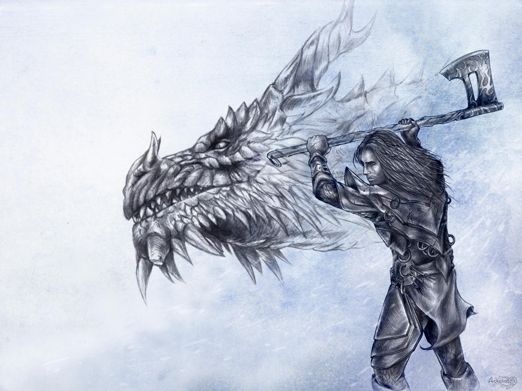 above is skyrim drawing - photo #17