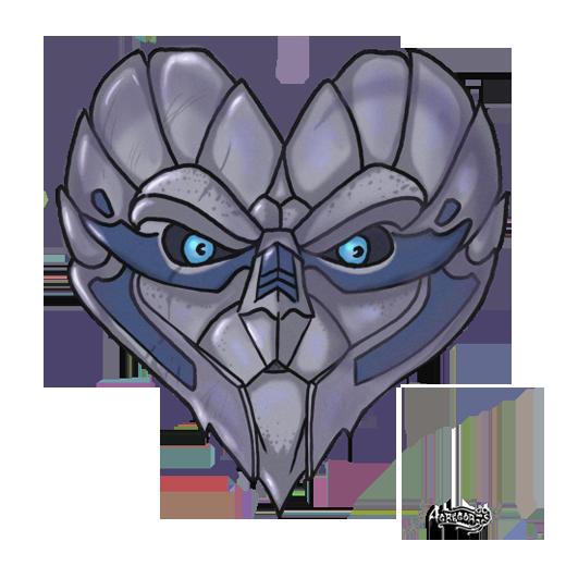 Mass Effect 2 Garrus Valentine card by Agregor