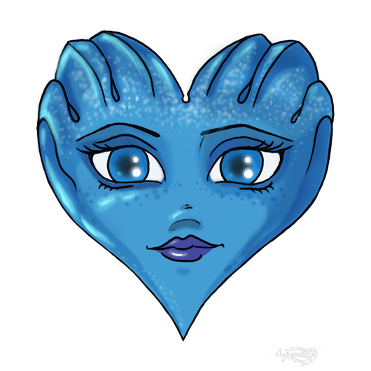 Mass Effect 3 Liara Valentine card by Agregor