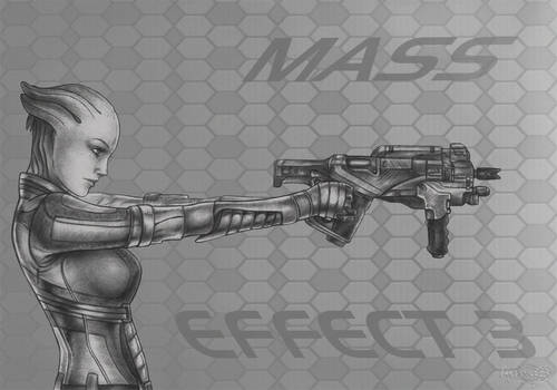 Mass Effect 3 Liara_Thorny Rose