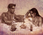Dragon Age_Alistair and Liana_bubble bath