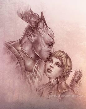 Dragon Age: Inquisition, Friendly kiss