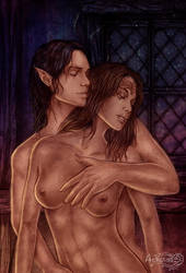 Dragon Age_Malvae and Tavius comm by Agregor