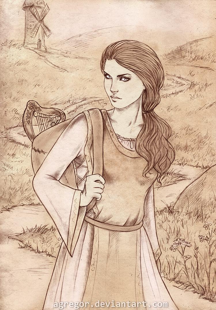 Magali Hilduinis, sketch commission by Agregor