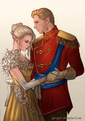 Cullen and Lauren Lavellan  by Agregor