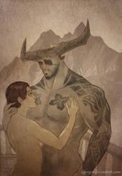 Ren Trevelyan and Iron Bull by Agregor