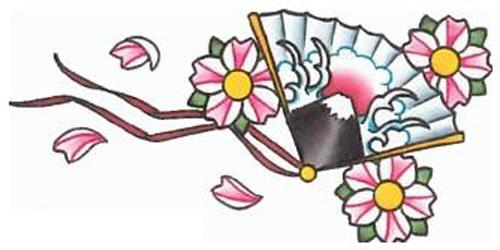 Cherry Blossom Fan Ribbons by TheTempestOfNature