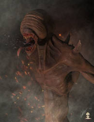 Dark creature by Aliengraphic