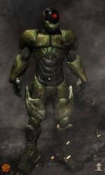 Mobile enhanced suit concept by Aliengraphic