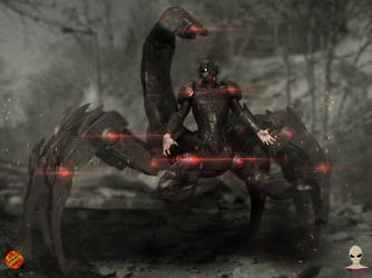 Scorpion Boss soldier by Aliengraphic