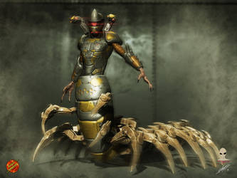 Centiped Boss concept by Aliengraphic