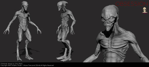 Obsession Creature preview by Aliengraphic