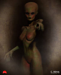 The Reptilian Mother by Aliengraphic