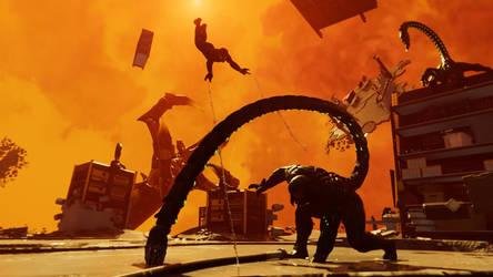 Attacking Scorpion - Marvel's Spider-Man