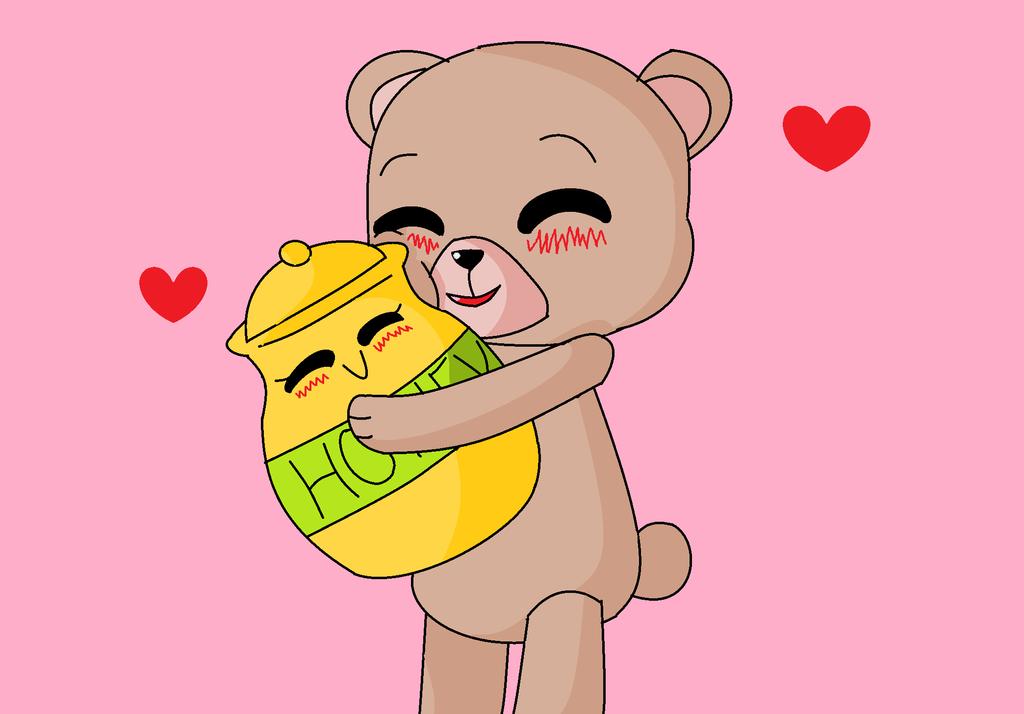 Honey And Bear by flippyandflaky