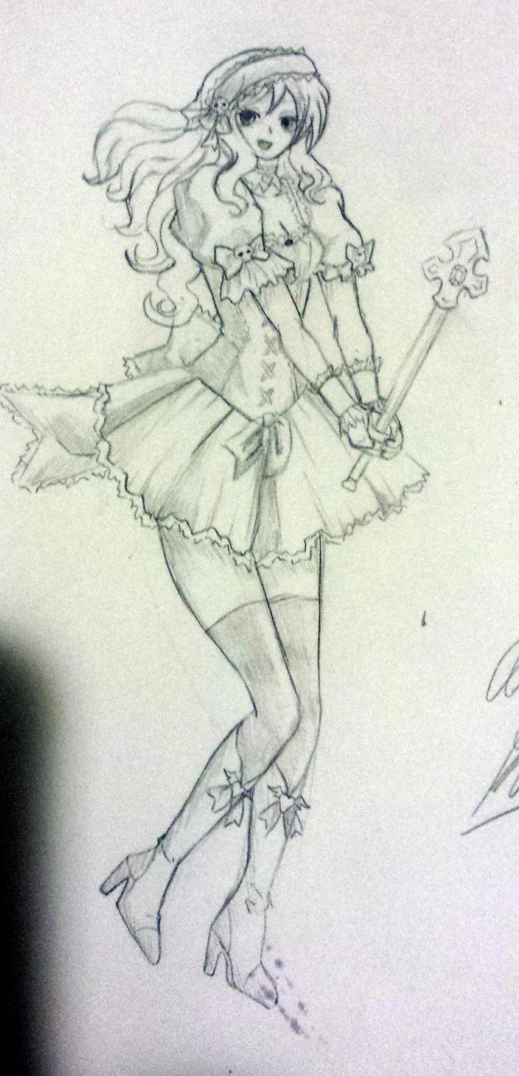 Anime Magical Girl sketch by LucLeigh on DeviantArt