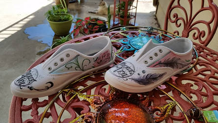 Pierce the Veil Painted Shoes