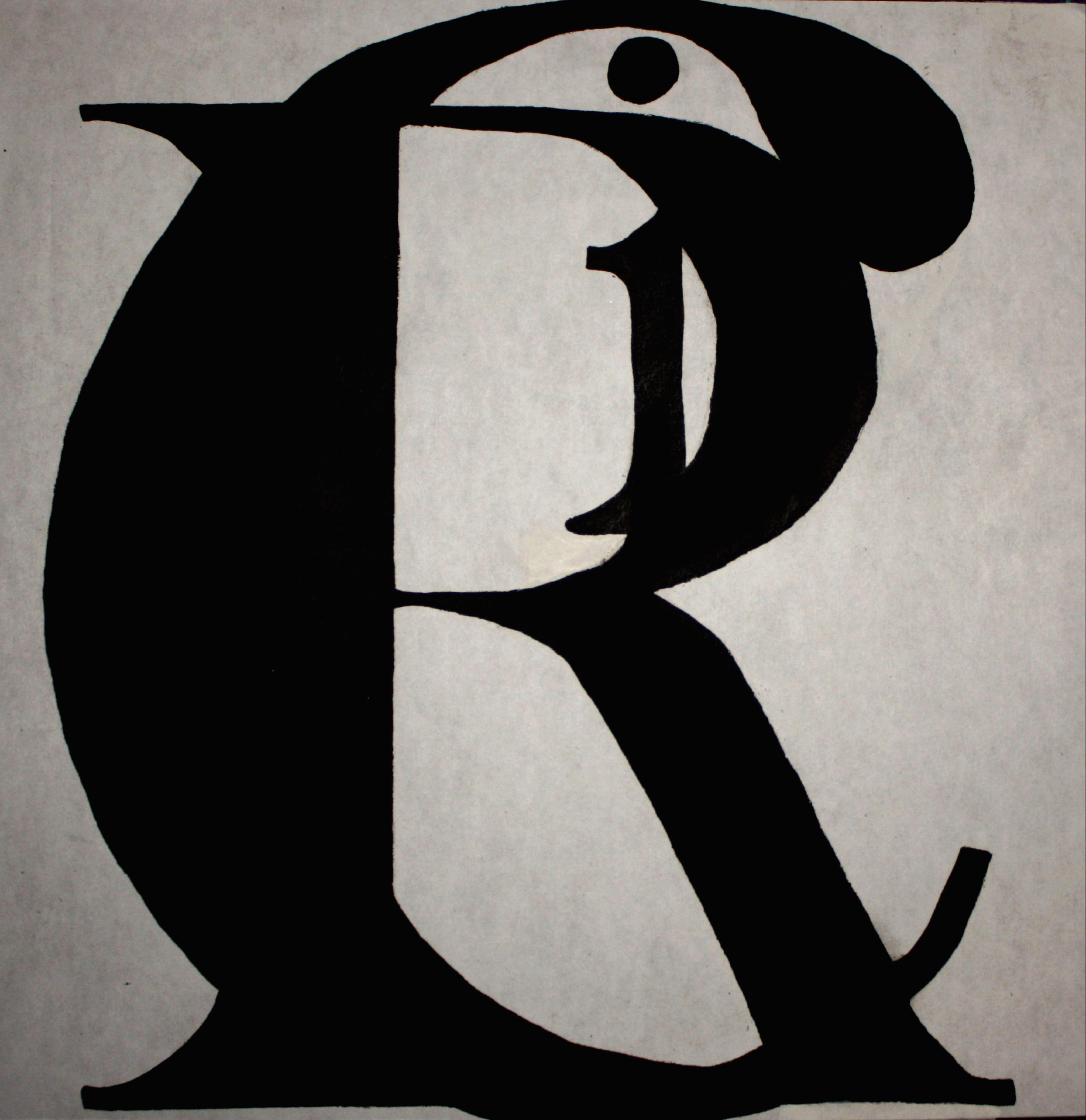 Letter R Art Abstract letter art_3by
