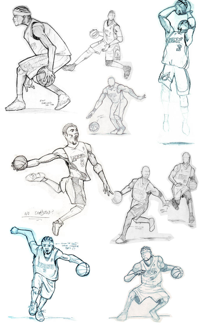 Basketball Sketches By FATRATKING On DeviantArt