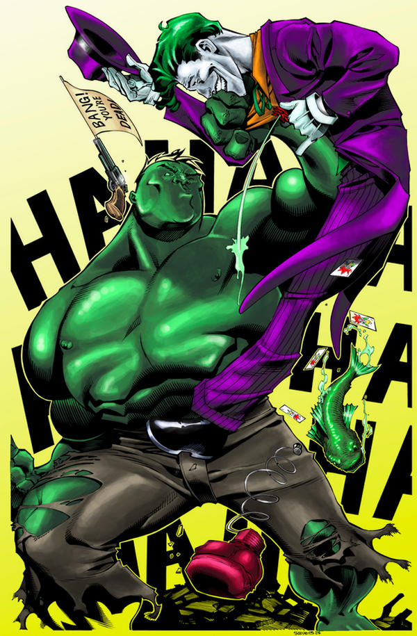 Joker VS Hulk colours final by FATRATKING