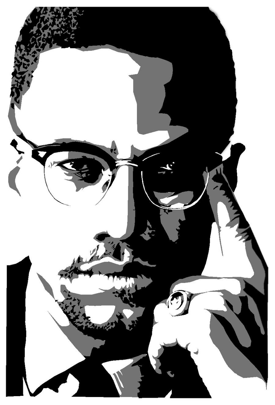 Malcolm x Stencils by FATRATKING