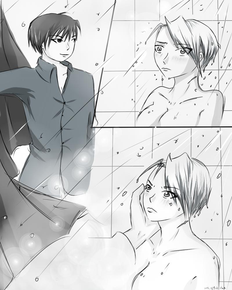 In the shower by artistYah