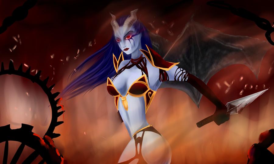 dota 2 queen of pain by artistyah on deviantart