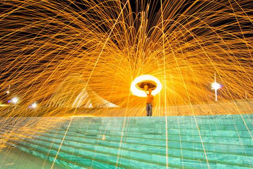 Steelwool fire series