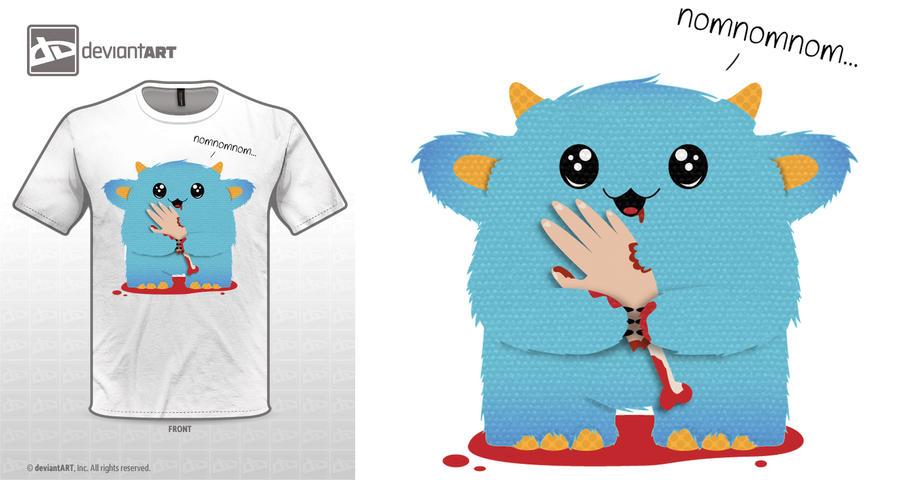 Omnomnom - cute monster iz eating juu! by hazyhue