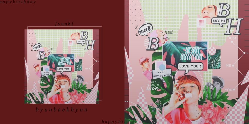 [2nd] graphic |baekhyun| countdown to 20180506 by SakuraMidori-chan