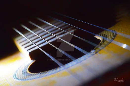 Acoustic Guitar at Night