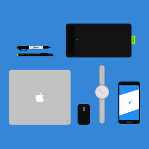 Flat Design - Objects (Free PSD)