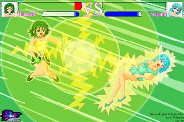 PF - Hanasaki vs Negami by Kunou