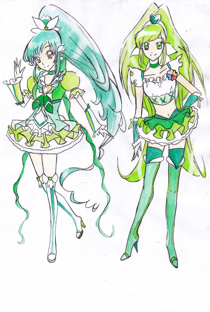 Cure Cantabile and Cure Kiwi (redrew) by Rona67