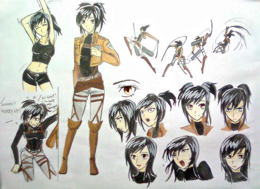 Shingeki No Kyojin OC Rona concept art by Rona67