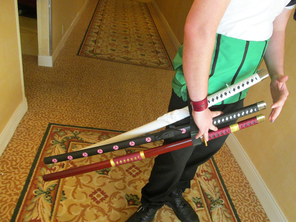 One Piece Zoro Swords And Holster By Sxymegger