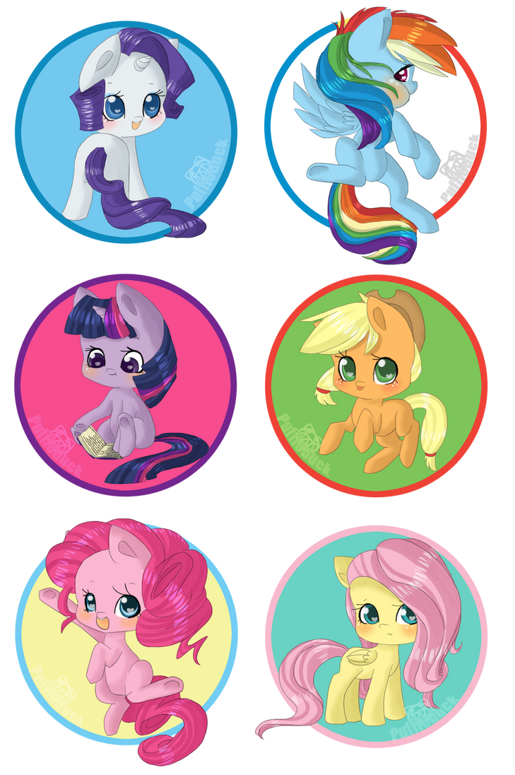 Mane Six Fillies by Puffleduck