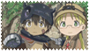 Made in Abyss Reg and Riko Stamp by slayer-plz