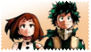 My Hero Academia Deku and Uraraka Stamp by slayer-plz
