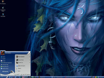 Night Elf Desktop by khanh