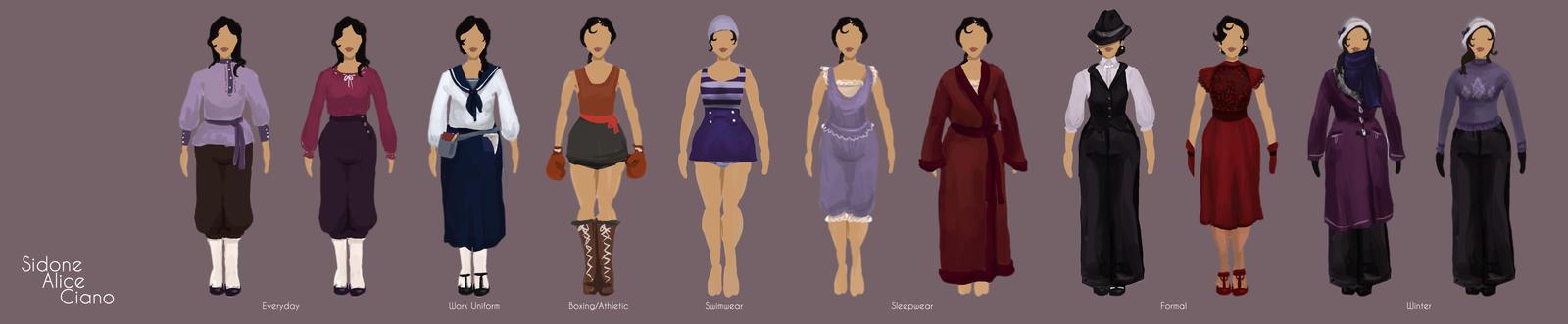 Sidone Ciano Wardrobe by saturnmarieson