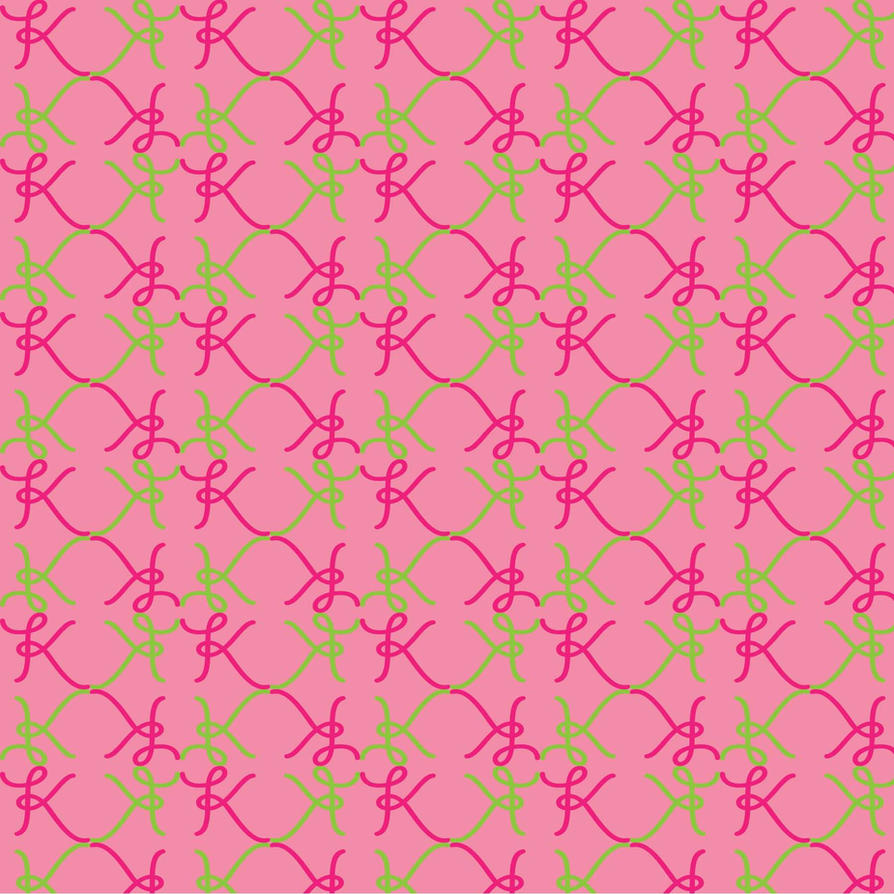 girly k pattern by on the left