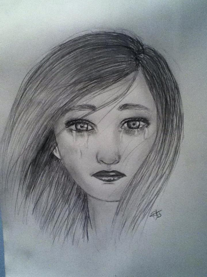 Sad little girl drawing by claristelow on deviantart for How to draw a little girl easy