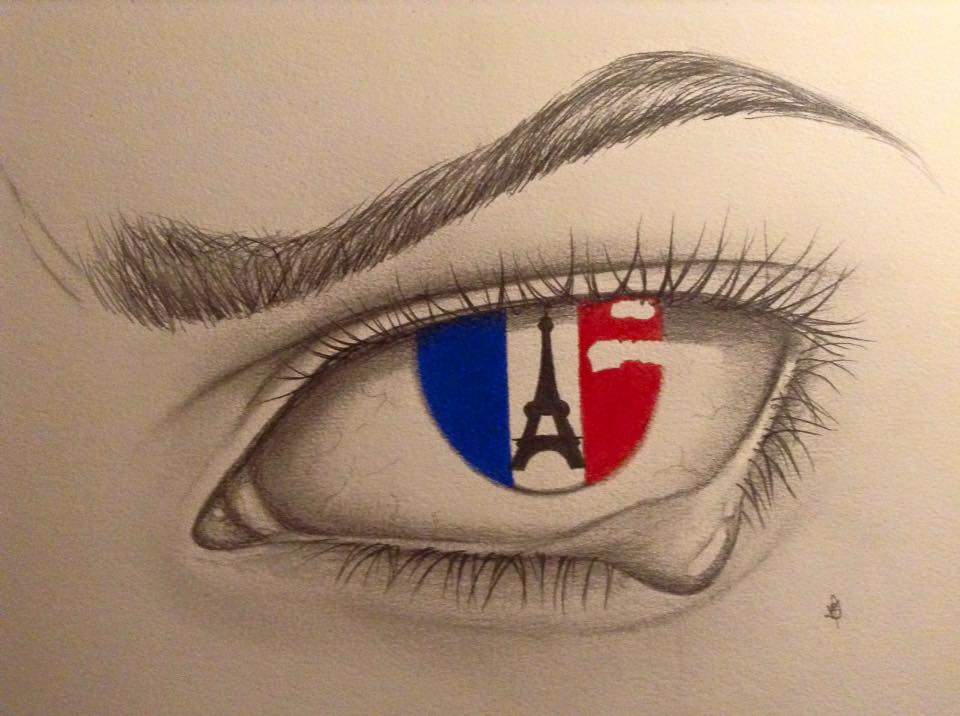 Crying Eye For France by Claristelow