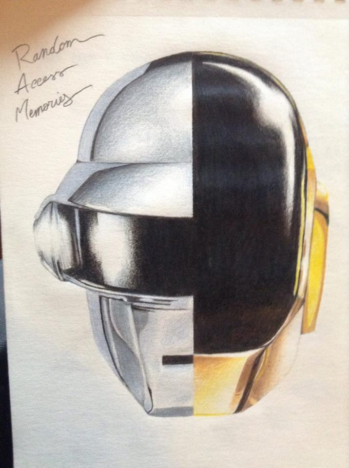 Daft Punk drawing by Claristelow